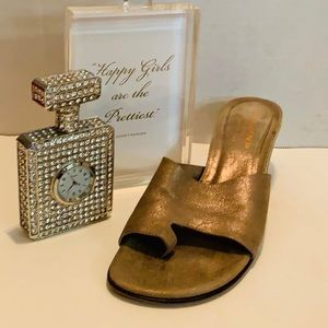 Donald Pliner Buttery Metallic Leather Sandal 8.5M
